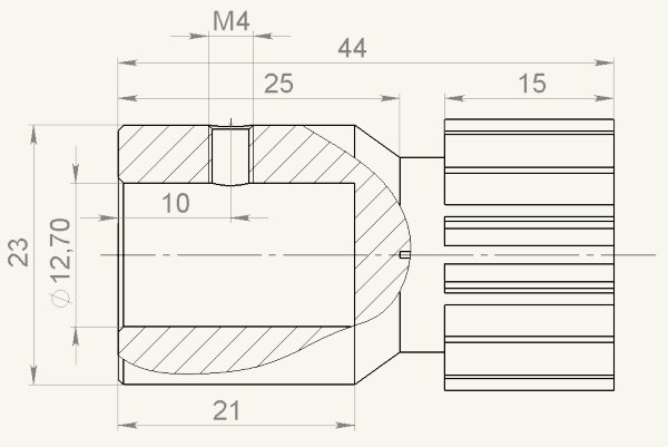 Схематический чертеж шестерни